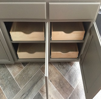 Bathroom Sliding Shelves