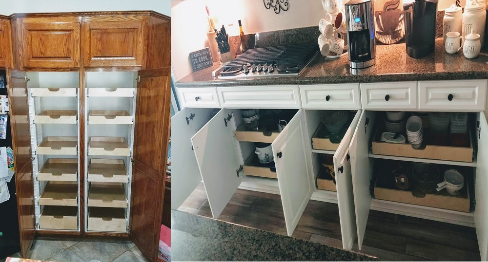 Kitchen Make Over With Pull Out Drawers