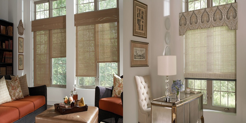 Wicker Weave Roller Shades