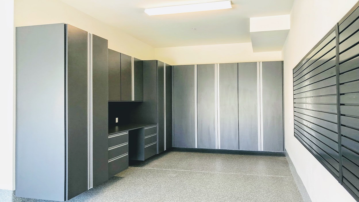 Custom Built Garage Cabinets