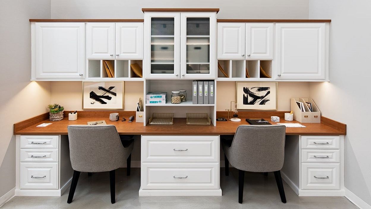 Custom Home Office Cabinets-Built In Desk Cabinets-So Cal, CA