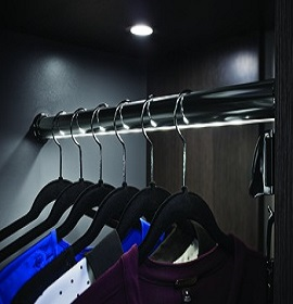 lighted closet rod