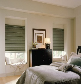 Orange County Flat Roman Shades